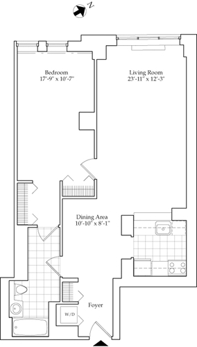 1 Bedroom, Lincoln Square Rental in NYC for $4,664 - Photo 1