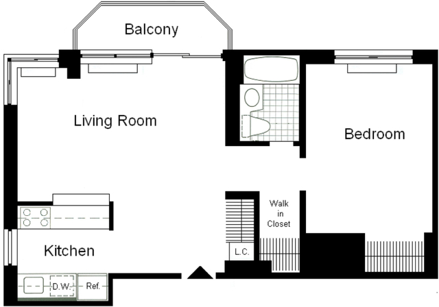 1 Bedroom, Theater District Rental in NYC for $4,253 - Photo 2
