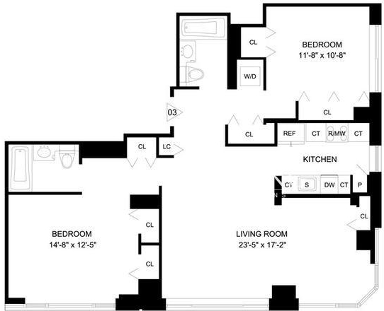 2 Bedrooms, Garment District Rental in NYC for $5,619 - Photo 2