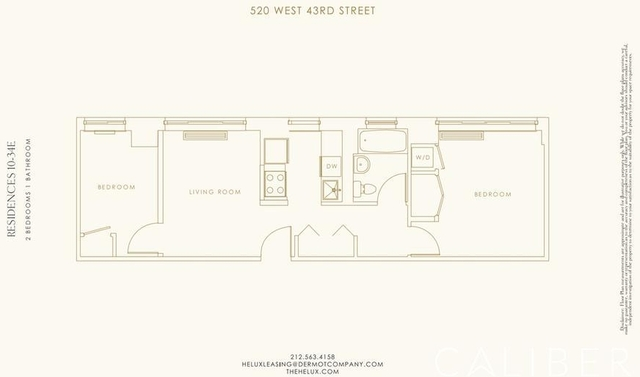 2 Bedrooms, Hell's Kitchen Rental in NYC for $4,680 - Photo 2