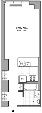 Studio, Hell's Kitchen Rental in NYC for $3,016 - Photo 2