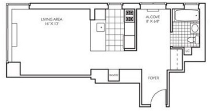 Studio, Theater District Rental in NYC for $3,254 - Photo 2