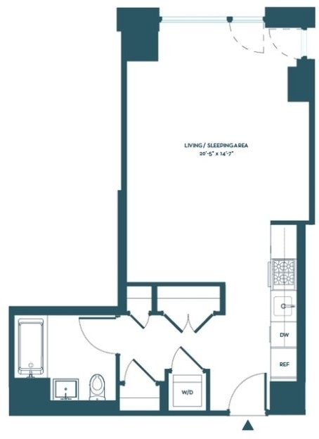 Studio, Hell's Kitchen Rental in NYC for $3,483 - Photo 2