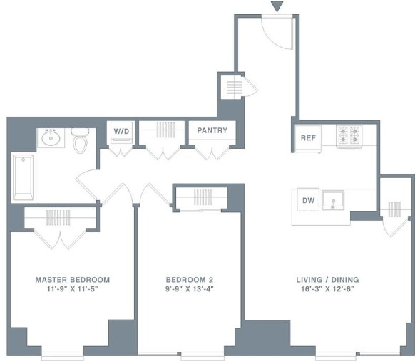 2 Bedrooms, Financial District Rental in NYC for $6,590 - Photo 2
