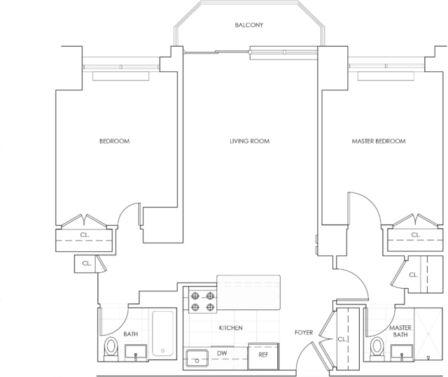 2 Bedrooms, Theater District Rental in NYC for $6,320 - Photo 2
