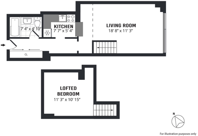 Loft, NoHo Rental in NYC for $3,200 - Photo 2