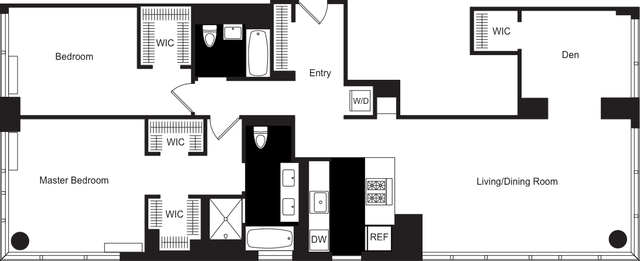 2 Bedrooms, Hell's Kitchen Rental in NYC for $9,900 - Photo 2