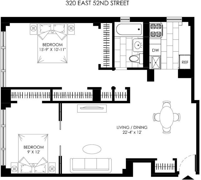 2 Bedrooms, Turtle Bay Rental in NYC for $4,295 - Photo 2