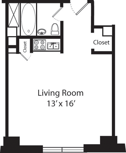 Studio, Upper West Side Rental in NYC for $2,776 - Photo 2