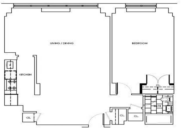 1 Bedroom, Rose Hill Rental in NYC for $4,695 - Photo 2