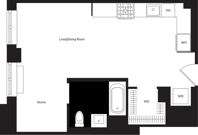 Studio, Hudson Square Rental in NYC for $5,028 - Photo 2