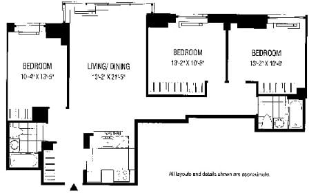 3 Bedrooms, Financial District Rental in NYC for $7,774 - Photo 2