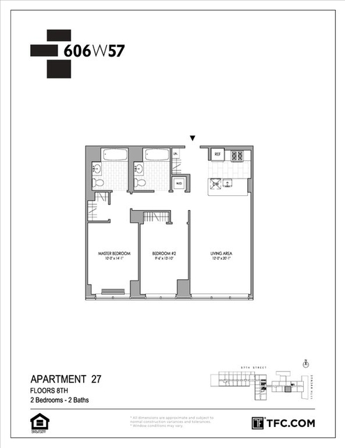 2 Bedrooms, Hell's Kitchen Rental in NYC for $5,246 - Photo 2