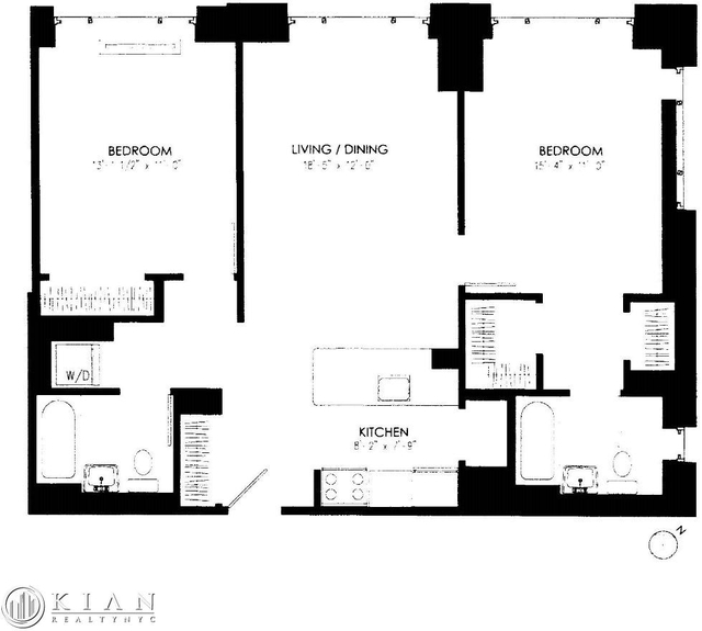 2 Bedrooms, Roosevelt Island Rental in NYC for $4,450 - Photo 2