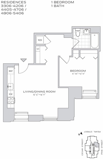 1 Bedroom, Financial District Rental in NYC for $4,074 - Photo 2