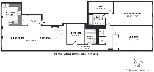 3 Bedrooms, Gramercy Park Rental in NYC for $9,230 - Photo 2