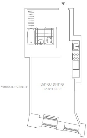Studio, Financial District Rental in NYC for $2,890 - Photo 1