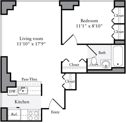 1 Bedroom, Brooklyn Heights Rental in NYC for $3,398 - Photo 1