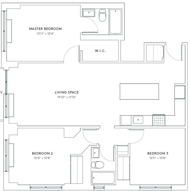 3 Bedrooms, Hell's Kitchen Rental in NYC for $6,519 - Photo 2