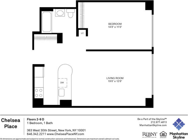 1 Bedroom, Chelsea Rental in NYC for $3,695 - Photo 2