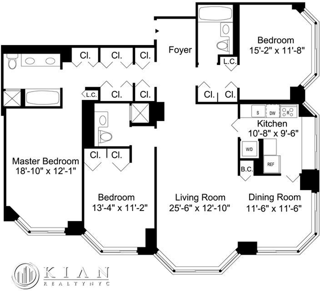 3 Bedrooms, Murray Hill Rental in NYC for $9,495 - Photo 2
