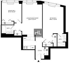 2 Bedrooms, Hell's Kitchen Rental in NYC for $5,547 - Photo 2