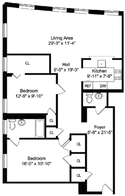2 Bedrooms, Washington Heights Rental in NYC for $3,400 - Photo 2
