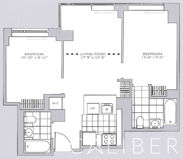 2 Bedrooms, Garment District Rental in NYC for $5,170 - Photo 2