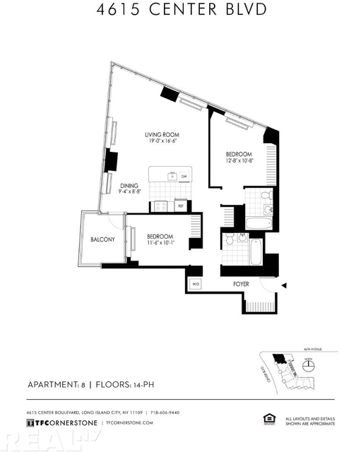 2 Bedrooms, Hunters Point Rental in NYC for $6,013 - Photo 2