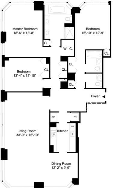 3 Bedrooms, Lincoln Square Rental in NYC for $18,333 - Photo 2
