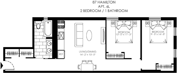 2 Bedrooms, Hamilton Heights Rental in NYC for $2,641 - Photo 2