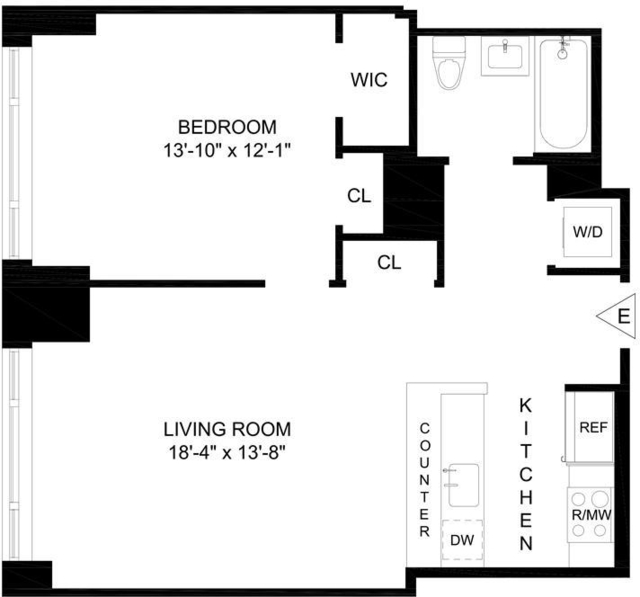 1 Bedroom, Lincoln Square Rental in NYC for $5,095 - Photo 2