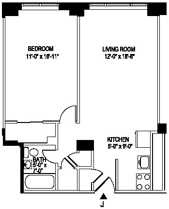 1 Bedroom, Manhattan Valley Rental in NYC for $3,238 - Photo 2