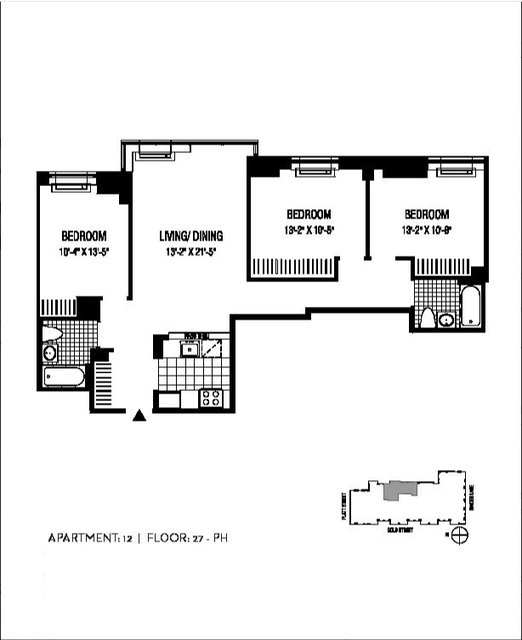 3 Bedrooms, Financial District Rental in NYC for $6,620 - Photo 2