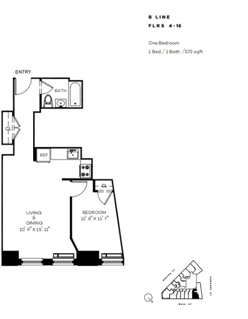 1 Bedroom, Financial District Rental in NYC for $2,839 - Photo 2