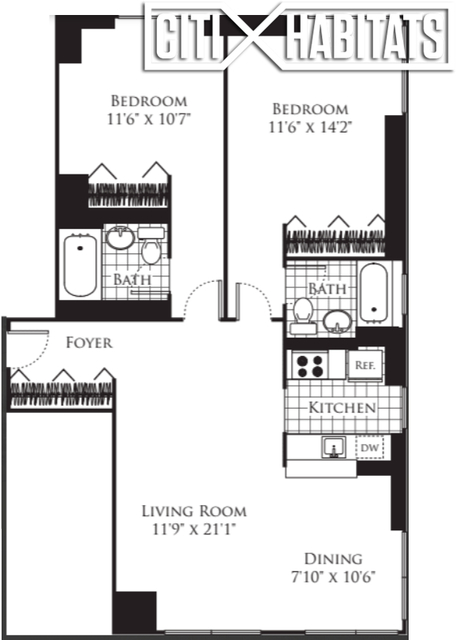 2 Bedrooms, Chelsea Rental in NYC for $6,857 - Photo 1