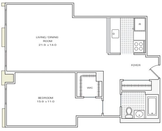 1 Bedroom, Financial District Rental in NYC for $3,740 - Photo 1