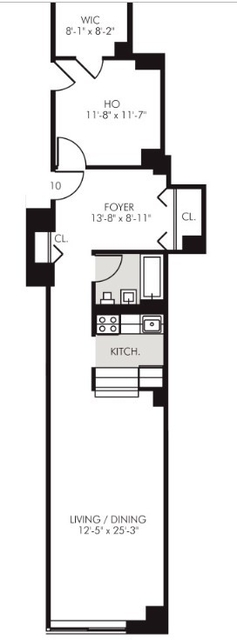 1 Bedroom, Financial District Rental in NYC for $3,236 - Photo 2