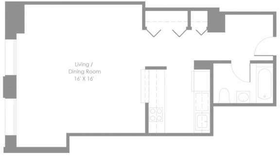 Studio, Financial District Rental in NYC for $2,914 - Photo 2