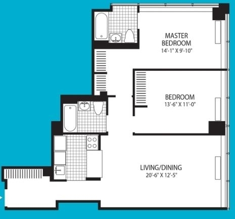 2 Bedrooms, Financial District Rental in NYC for $5,585 - Photo 2