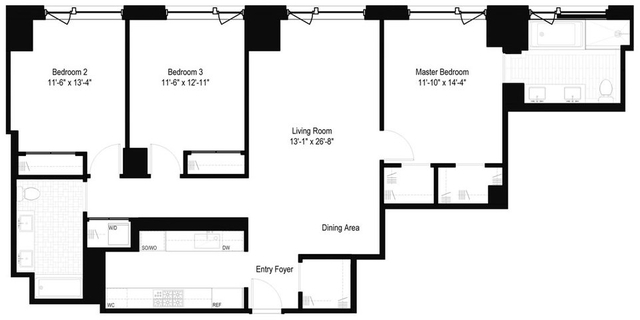3 Bedrooms, Yorkville Rental in NYC for $13,930 - Photo 2
