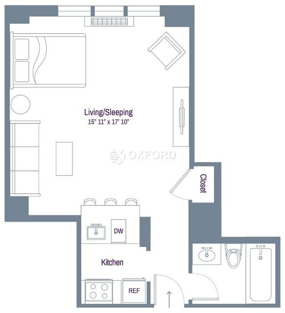 Studio, Rose Hill Rental in NYC for $3,025 - Photo 2