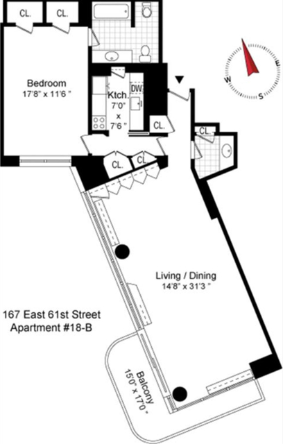 1 Bedroom, Lenox Hill Rental in NYC for $5,700 - Photo 2