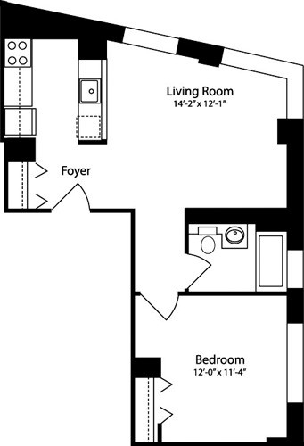 1 Bedroom, Hell's Kitchen Rental in NYC for $3,652 - Photo 2