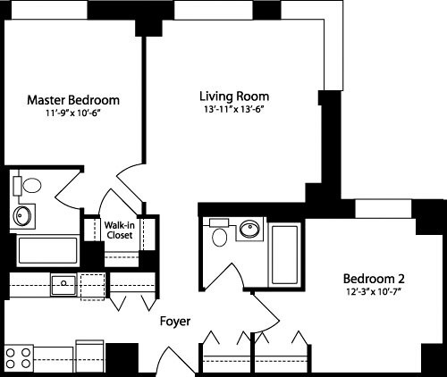2 Bedrooms, Hell's Kitchen Rental in NYC for $4,967 - Photo 2