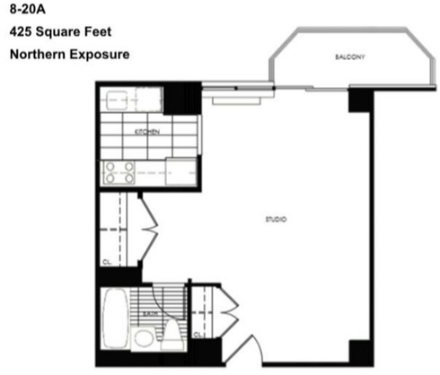 Studio, Theater District Rental in NYC for $3,048 - Photo 2