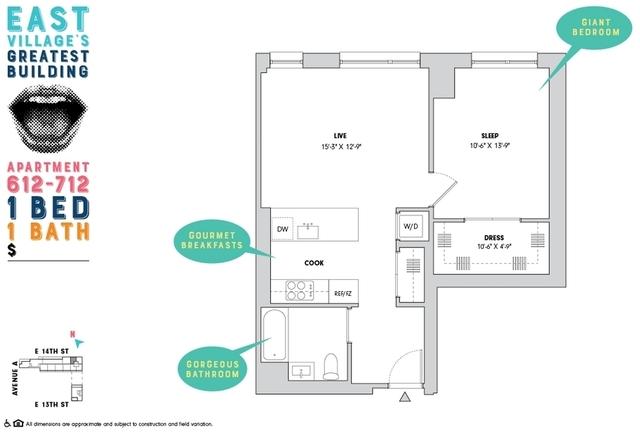 1 Bedroom, Alphabet City Rental in NYC for $5,308 - Photo 2
