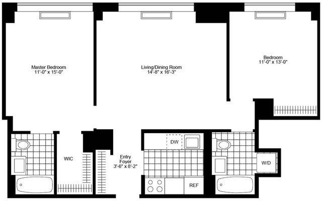 2 Bedrooms, Chelsea Rental in NYC for $8,345 - Photo 2