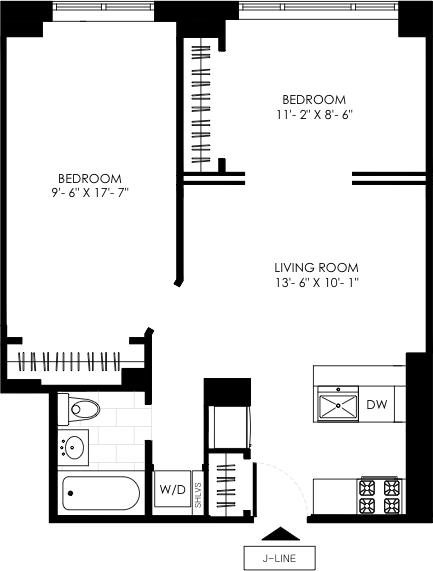 1 Bedroom, Manhattan Valley Rental in NYC for $3,392 - Photo 2