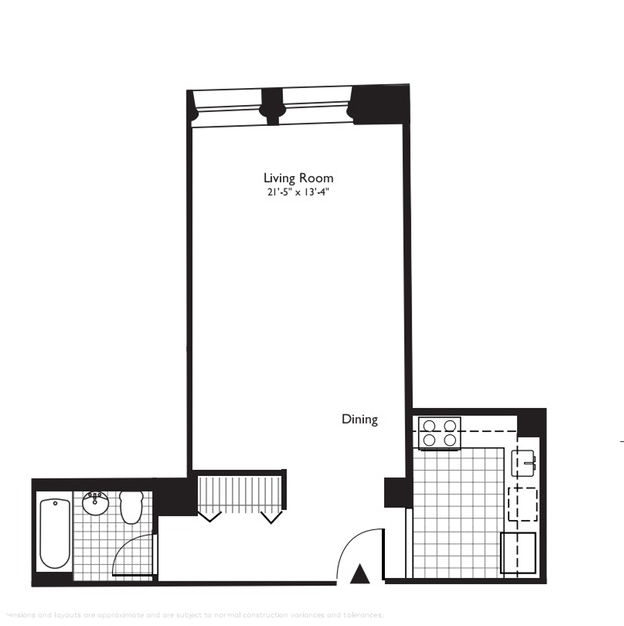 Studio, Financial District Rental in NYC for $3,277 - Photo 2
